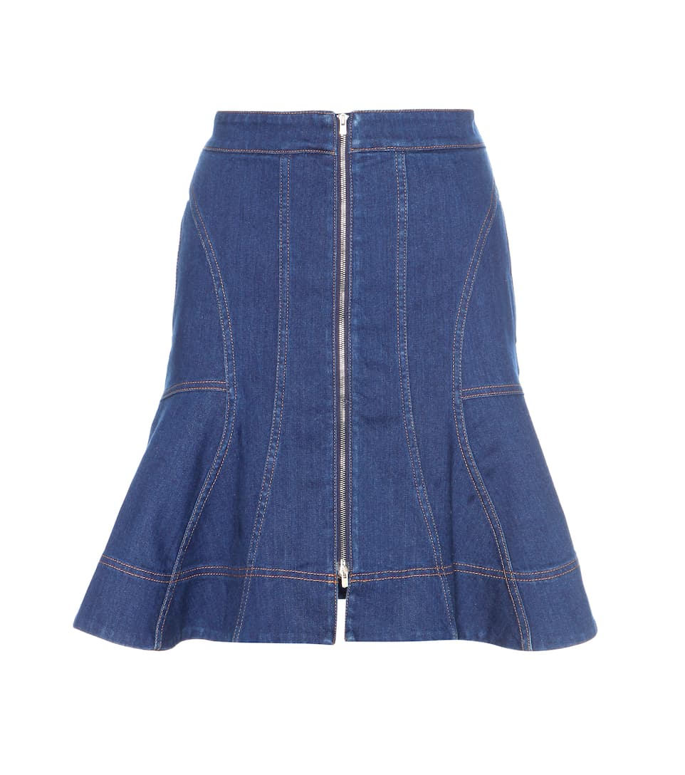Denim Ruffled Skirt 102
