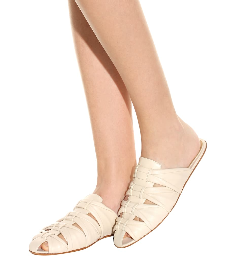 The Row Slippers Capri aus Leder