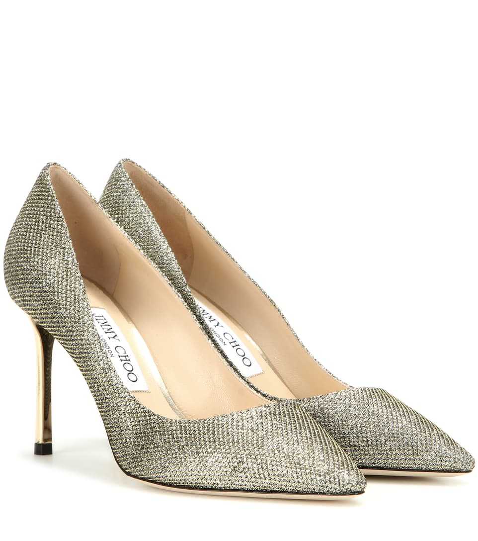 Jimmy Choo Romy 85 glitter fabric pumps