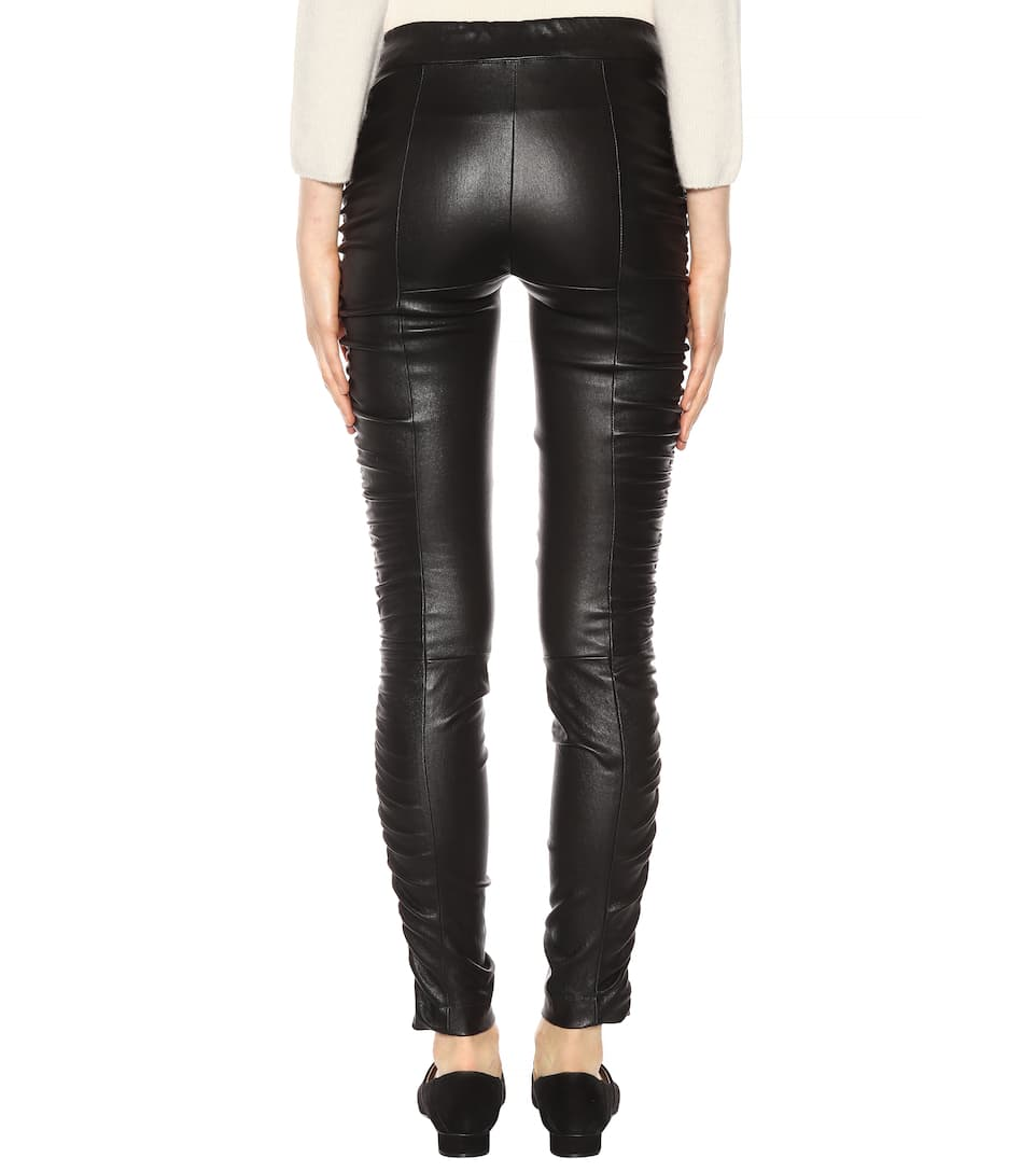 Negro Row Pantalones Orshen cuero The de wqrXqF