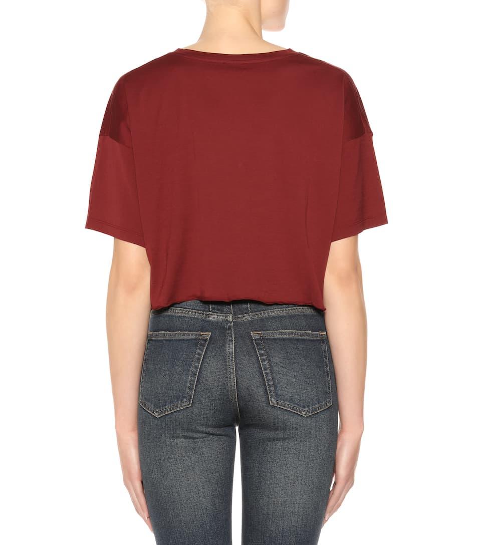 Saint Laurent T-Shirt aus Baumwoll-Jersey Billig Bequem HhGpJgp1U