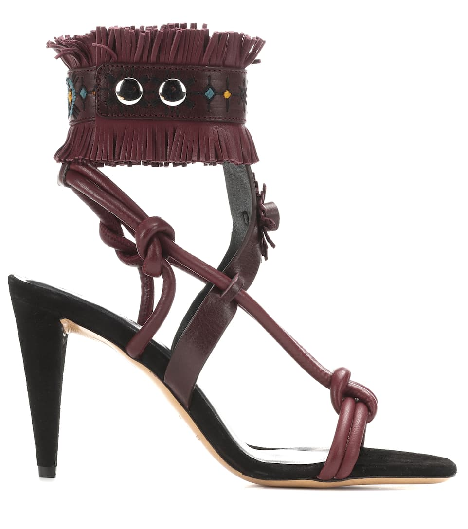 Isabel Marant Abrily embellished leather sandals Cheap Price For Sale Yif7lD