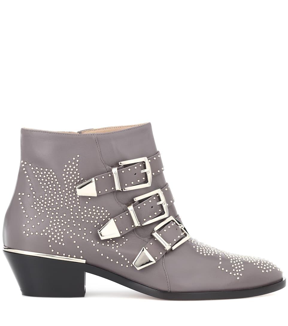 c89277673e42 Susanna leather ankle boots. Chloé