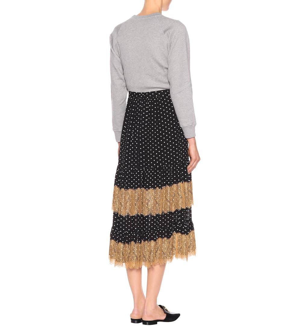 Alexa Chung Printed Midi Skirt