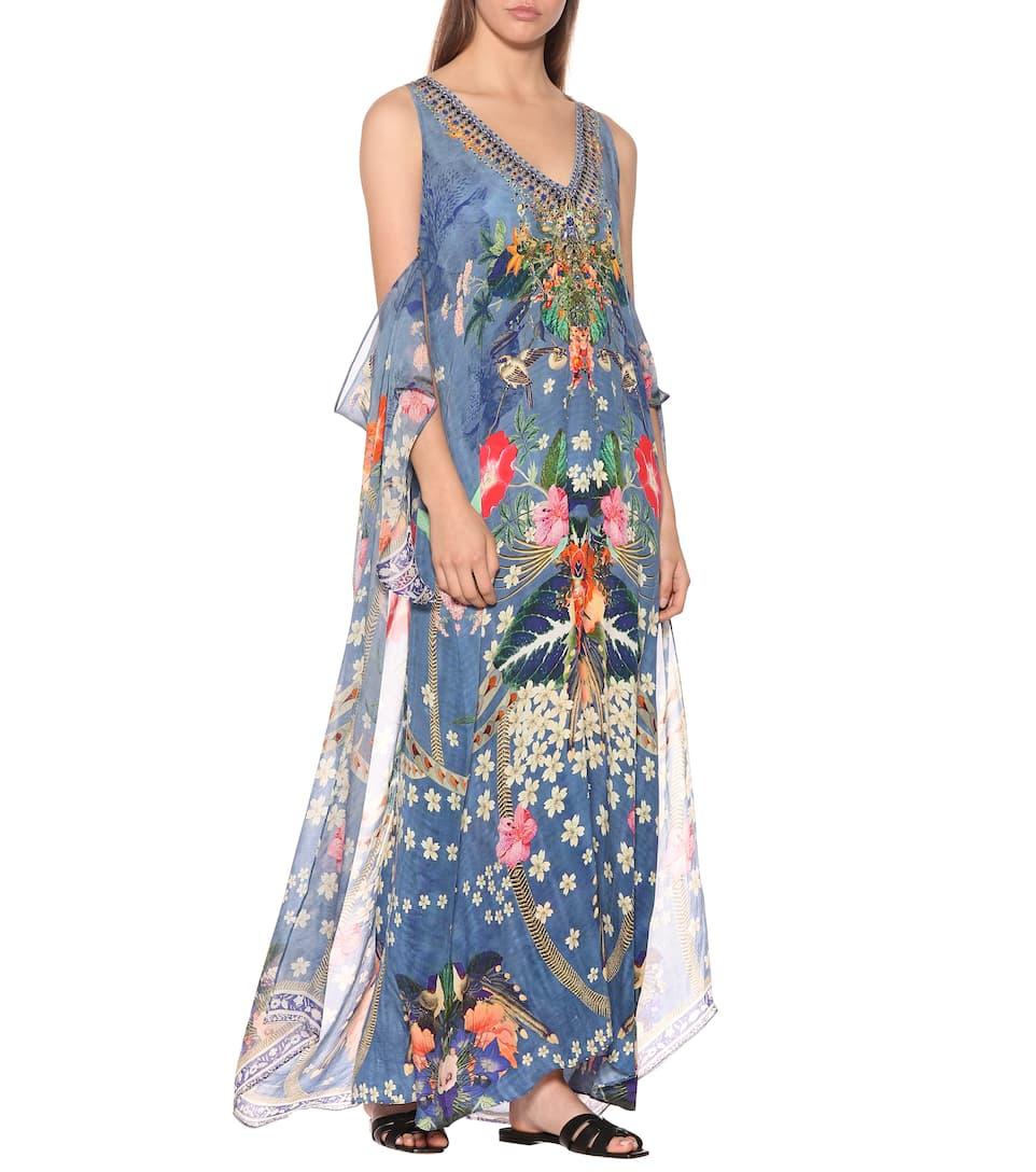 Faraway Soie Mytheresa Robe Florals Artnbsp;p00358558 com N° ImpriméeCamilla En Longue wmvnyON80P
