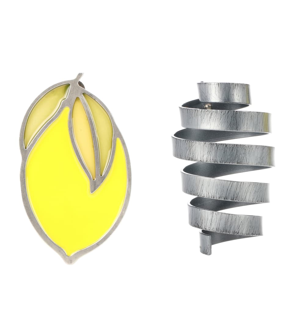 Jacquemus Le Citron lemon and spiral earrings 57VZisS
