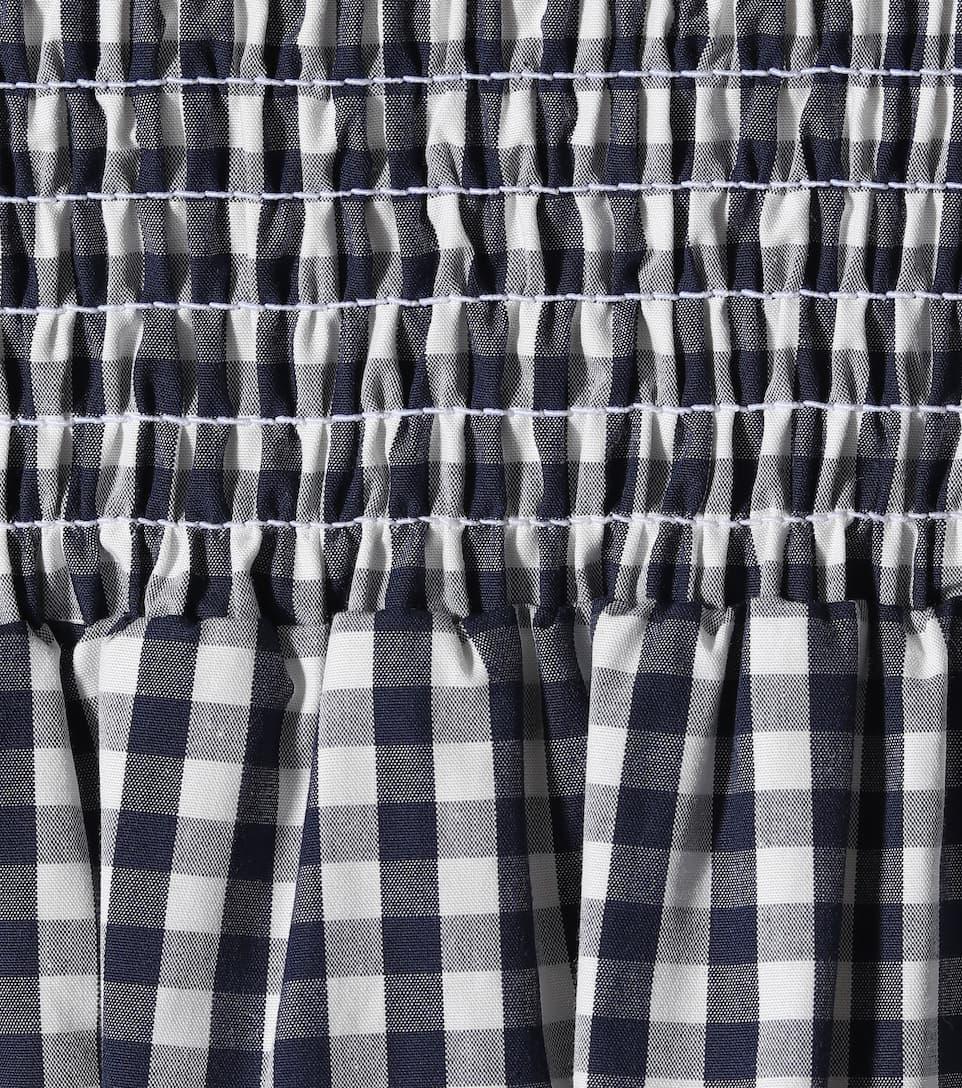 Tory Burch Kariertes Minikleid aus Baumwolle