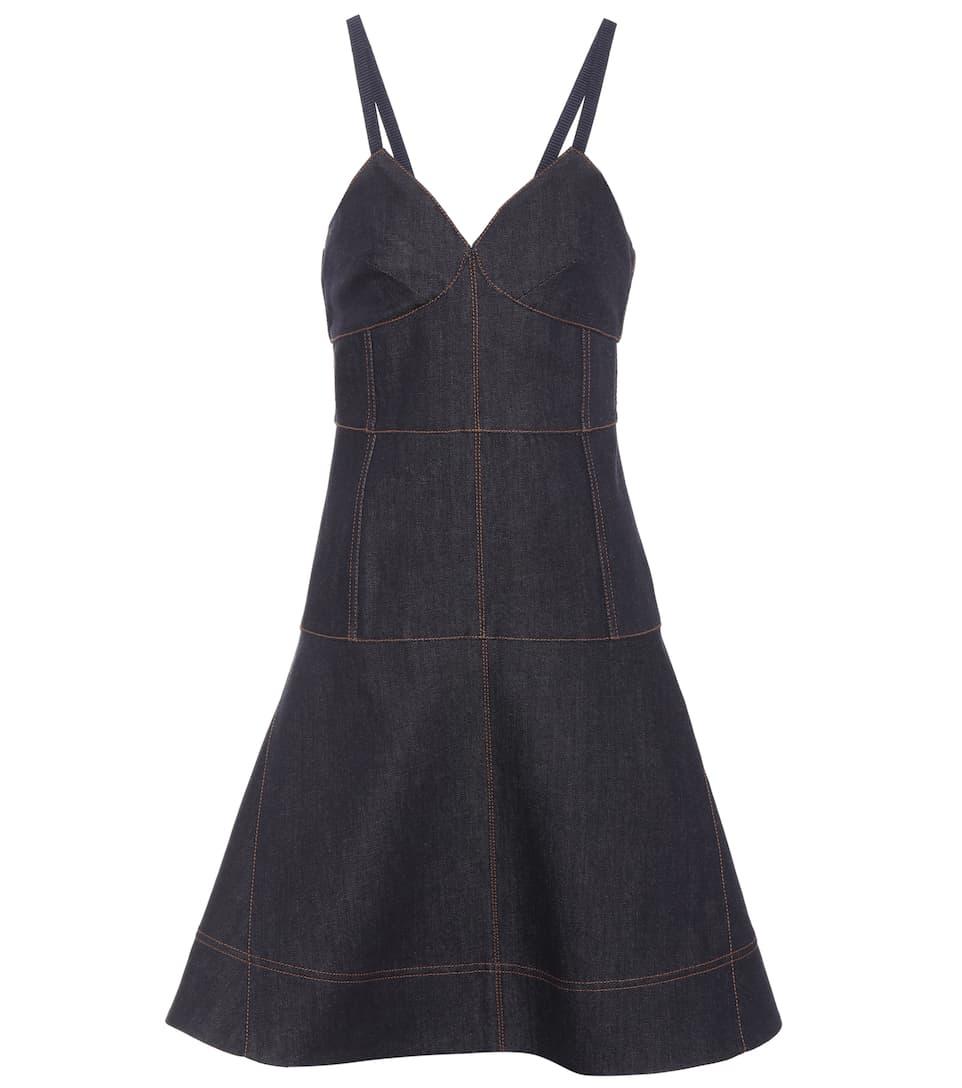 Fendi Denim Dress In Cotton