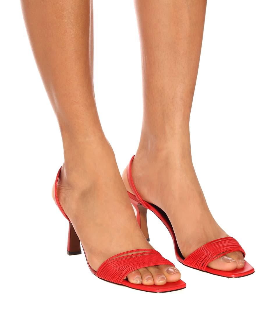 Dilema leather slingback sandals