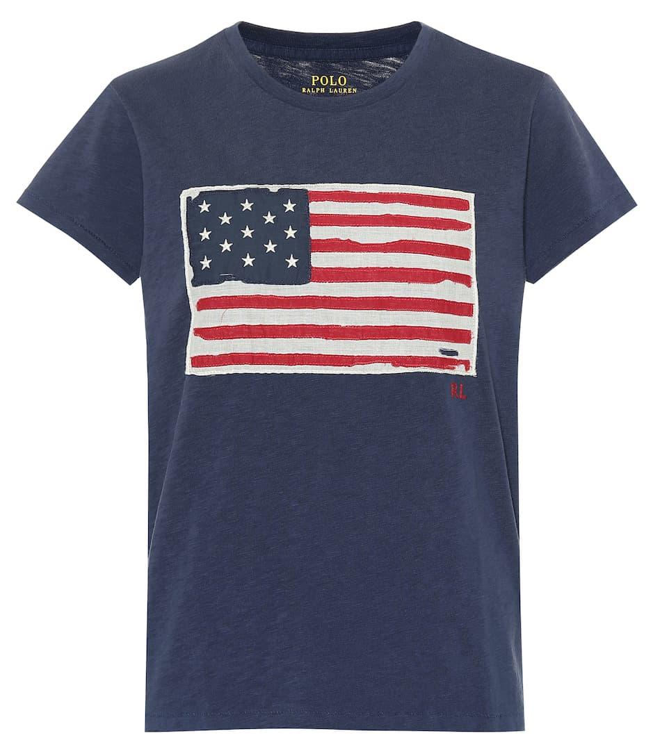 T-Shirt En Coton À Appliqué - Polo Ralph Lauren   mytheresa 554bbefe6f5