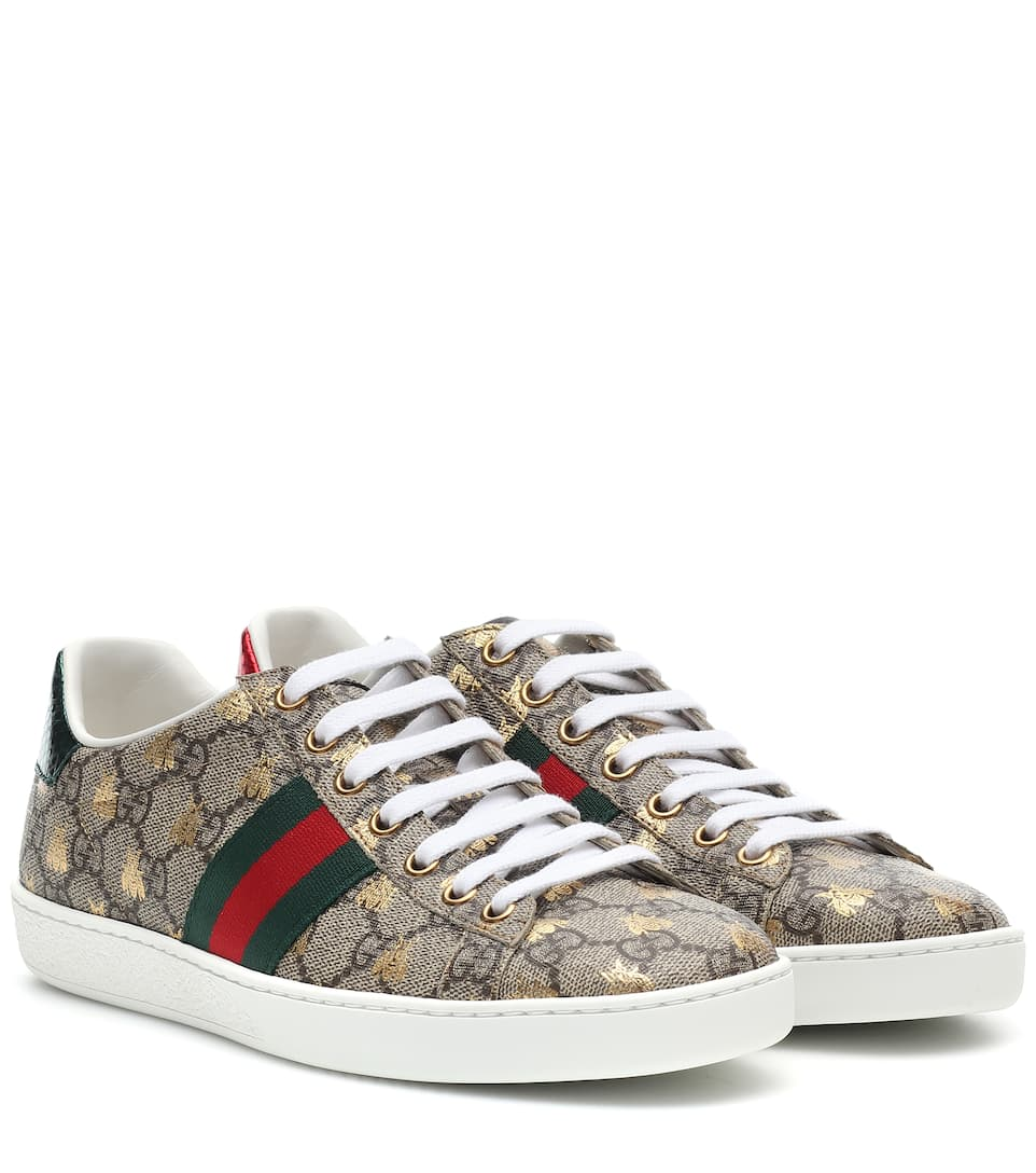 24f5e5c4919 Ace Leather-Trimmed Printed Sneakers
