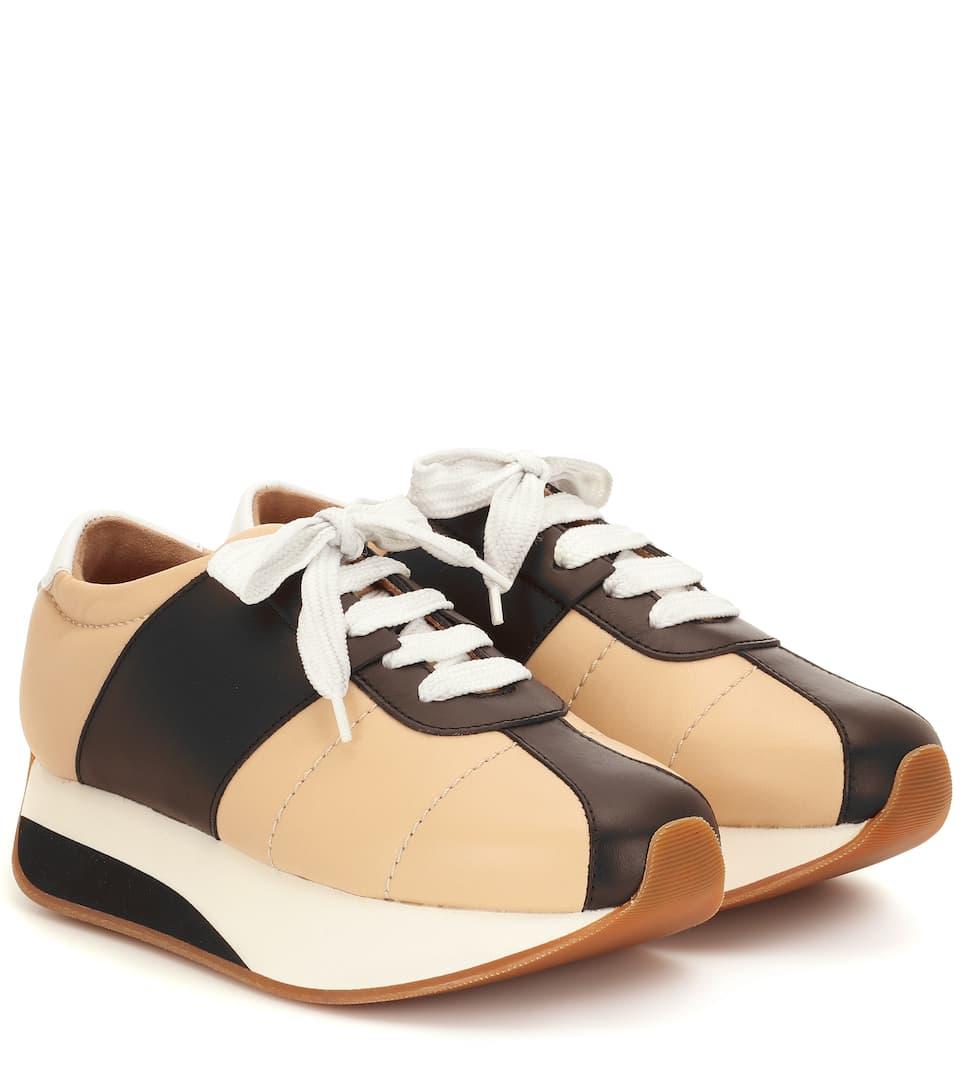 N° Cuir Foot Artnbsp;p00393432 Big À En Plateforme MarniBaskets nPyNO8m0vw