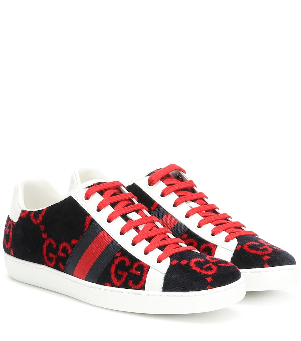 Gucci - Ace GG terry cloth sneakers