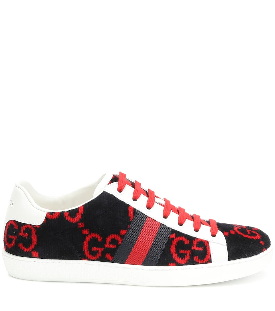 73cf0f6915 Gucci - Ace GG terry cloth sneakers | Mytheresa