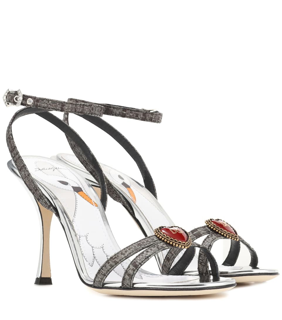 Dolce & Gabbana Logo heart ankle-strap sandals