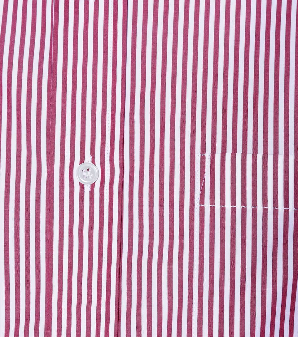 Balenciaga Striped Cotton Blouse