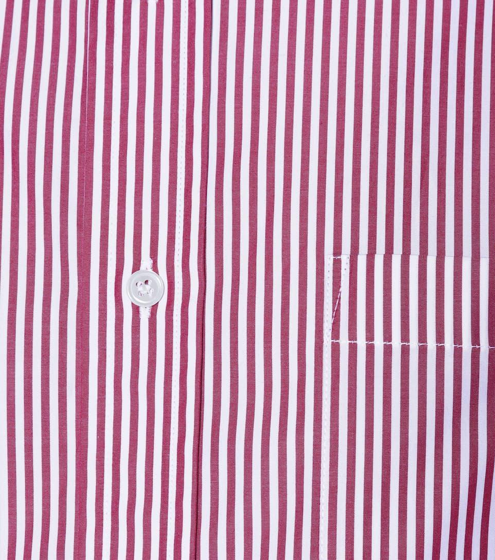 algodón Bordeaux de Balenciaga camisa Blanc y rayas de ZUwTqRv