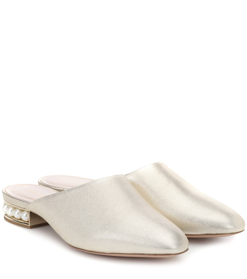 outlet visa payment really Nicholas Kirkwood Casati metallic leather slippers low price fee shipping sale online discount 100% guaranteed sale marketable ezLudIA
