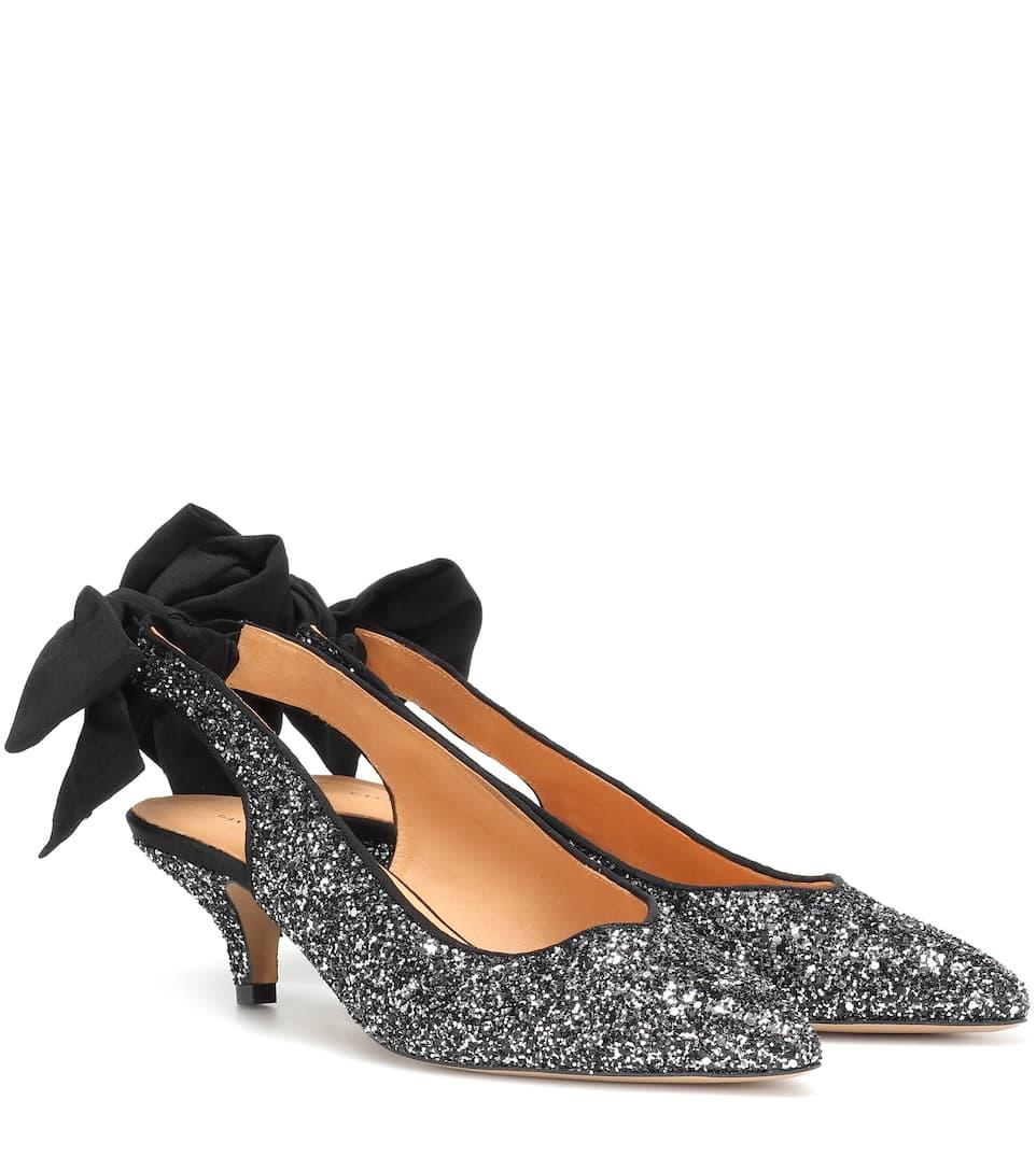 8f1da843f31 Bow Kitten Heel glitter pumps