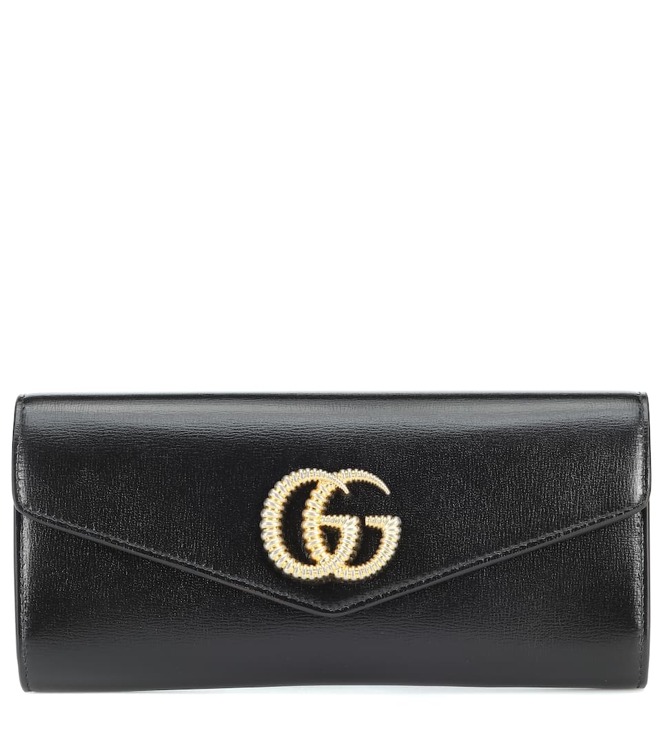 Broadway Leather Clutch by Gucci