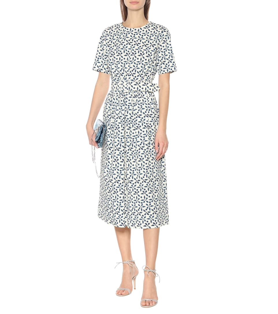 Oscar de la Renta - Exclusive to Mytheresa – Printed stretch-cotton midi dress