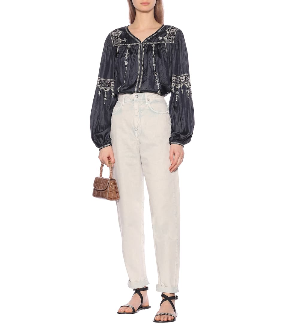 Isabel Marant, Étoile - Tosca embroidered silk blouse