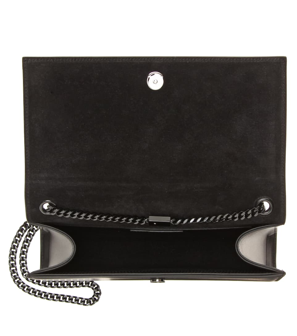 Saint Laurent Shoulder Bag Kate Medium Of Suede