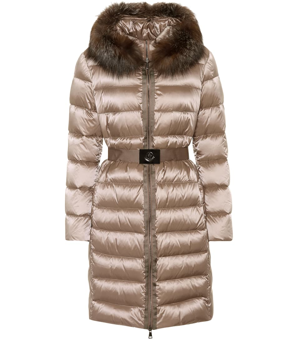 Fur Trimmed Puffer Coat by Moncler