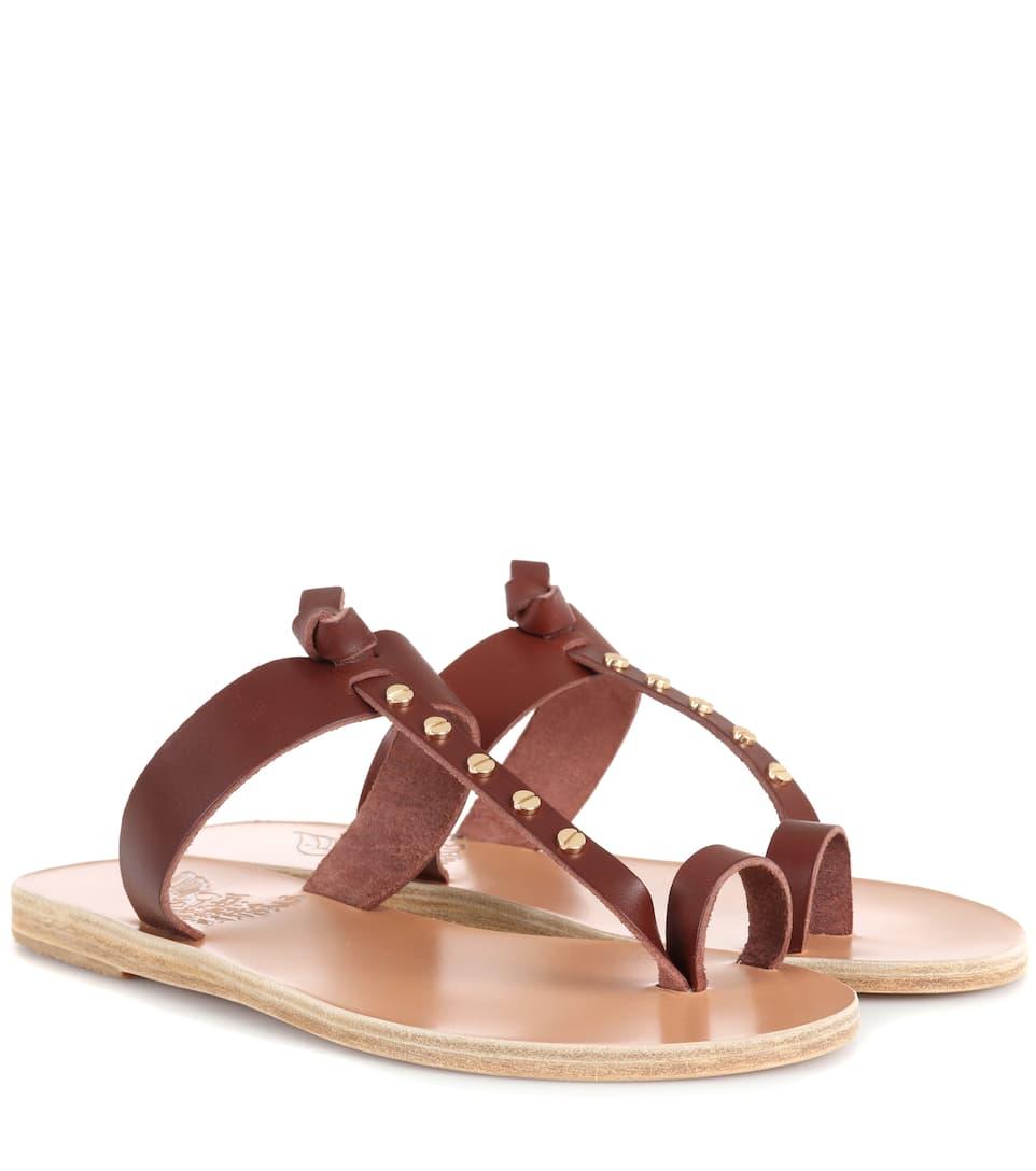 Ancient Greek Sandals Sandalen Melpomeni Nails aus Leder