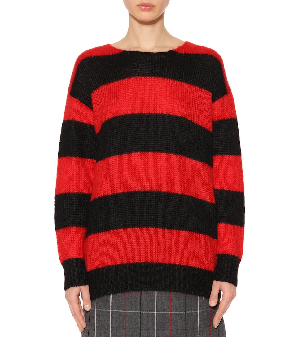 Visit New Best Place Cheap Price Miu Miu Mohair-blend striped sweater Rosso Cheap Sale 2018 Unisex Cheapest Price Cheap Online mqlNOgP