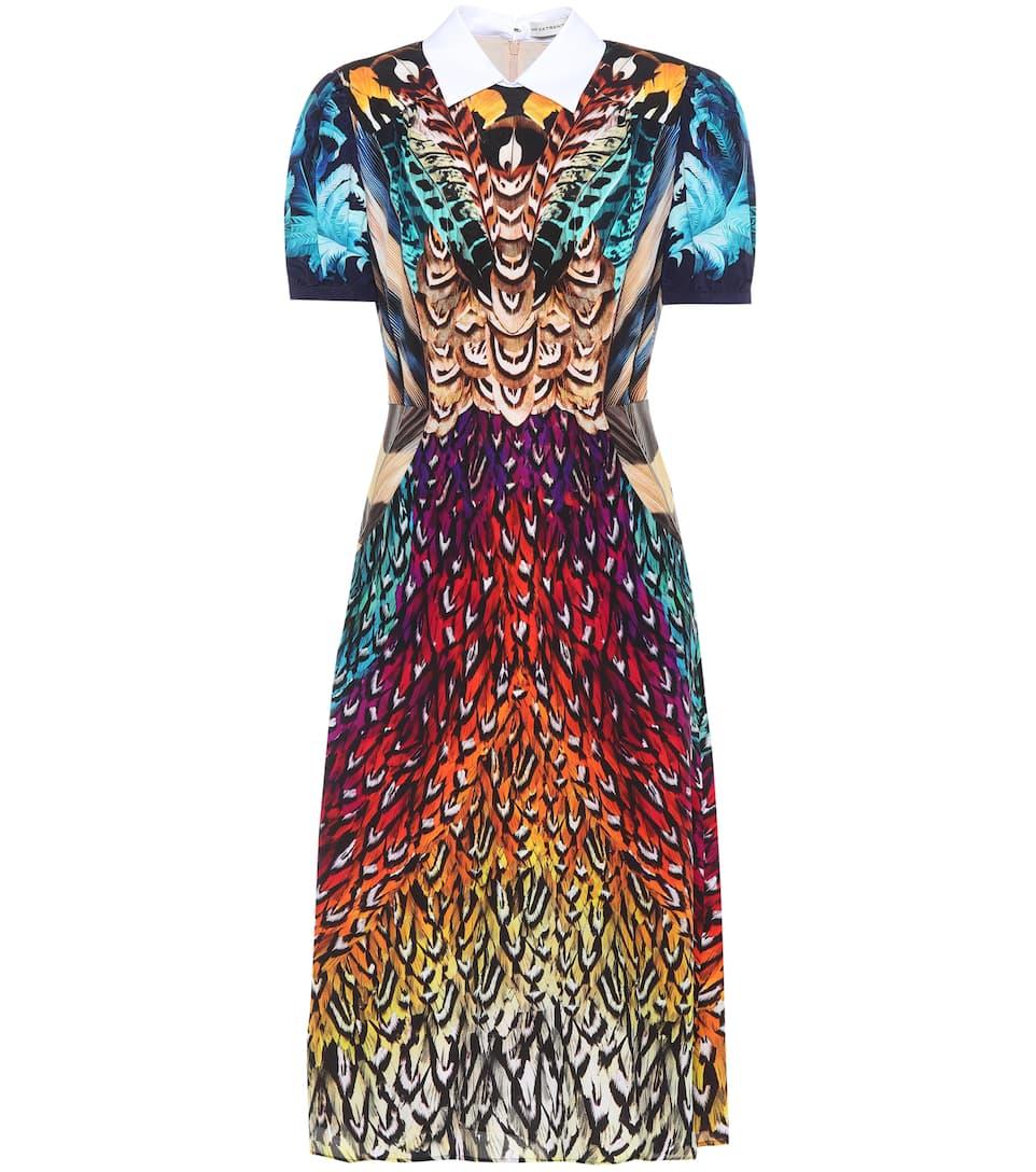 Mary Katrantzou Bedrucktes Midikleid aus Seide