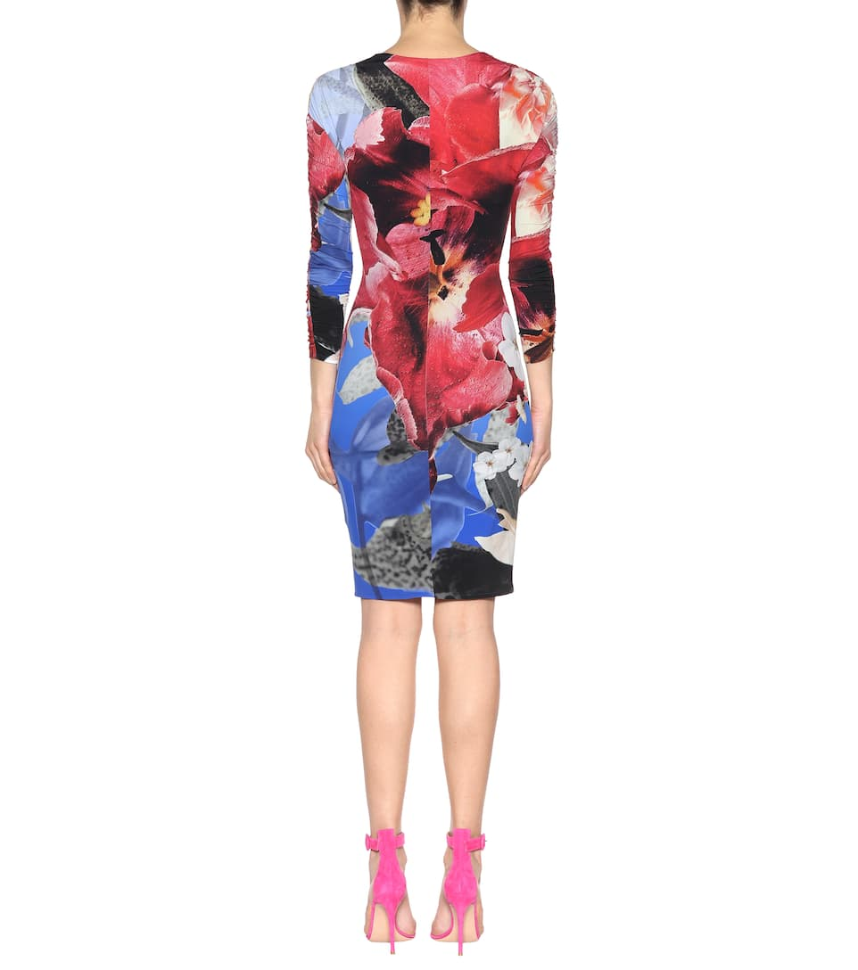 Roberto Cavalli Bedrucktes Kleid aus Jersey