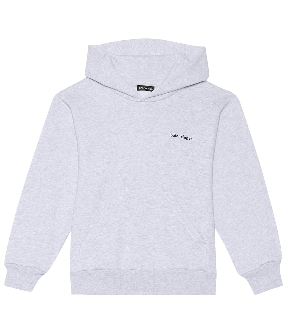 Cotton-Blend Hoodie in Gris Chiee