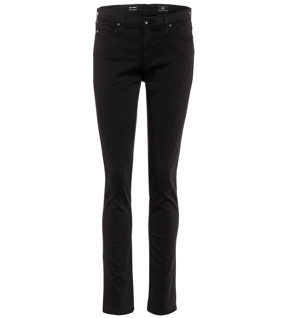 Farrah Sateen High-Rise Ankle Skinny Jeans in Black