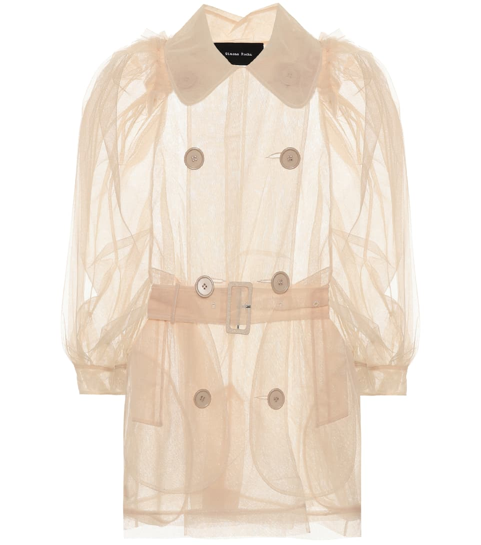 Simone Rocha Transparente Jacke aus Tüll
