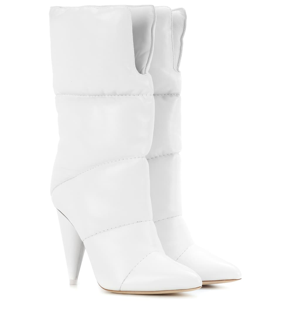 a04363d4092f X Off-White Sara 100 Leather Boots