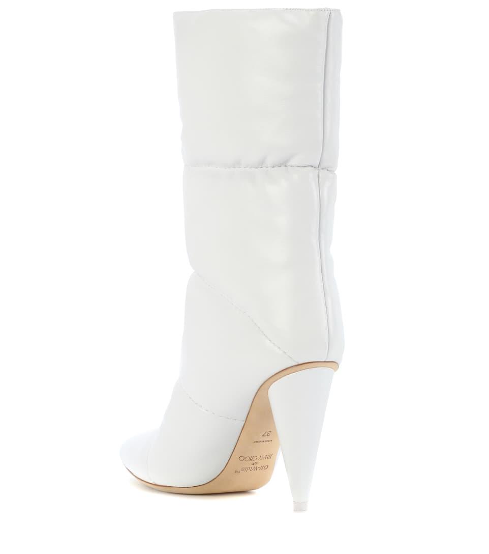 Jimmy Choo X Off-White Stiefel Sara 100 aus Leder
