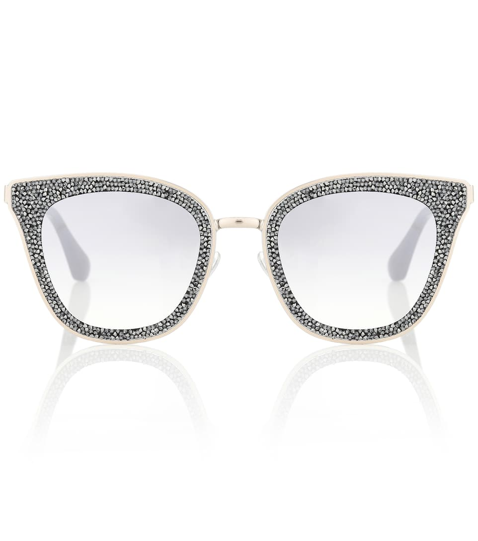 LIZZY CRYSTAL-EMBELLISHED SUNGLASSES