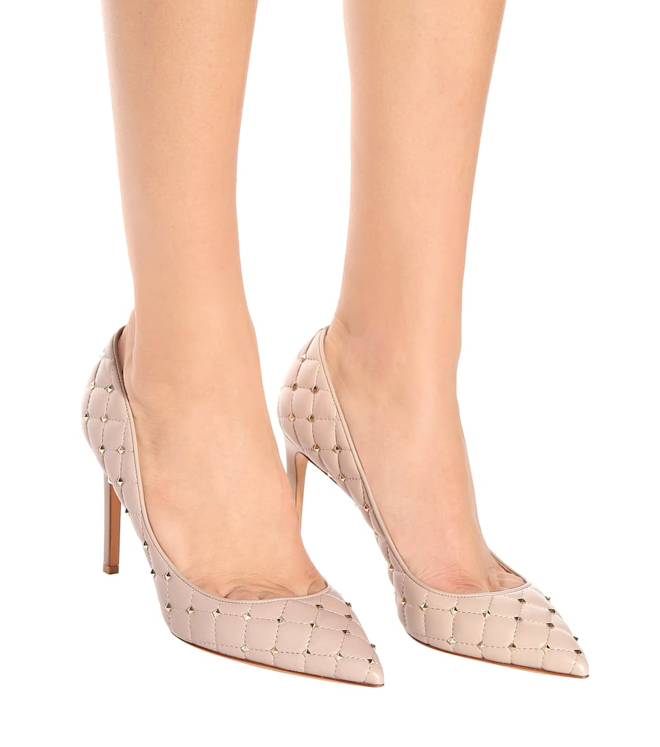 Outlet Big Discount Valentino Valentino Garavani Rockstud Spike leather pumps Poudre Good Selling Cheap Online Low Cost Cheap Online Buy Cheap Exclusive cGsAiW