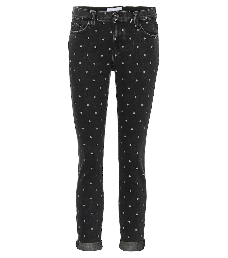 16b919bc8ad32 The Easy Stiletto Polka-Dot Skinny Jeans - Current/Elliott | mytheresa.com