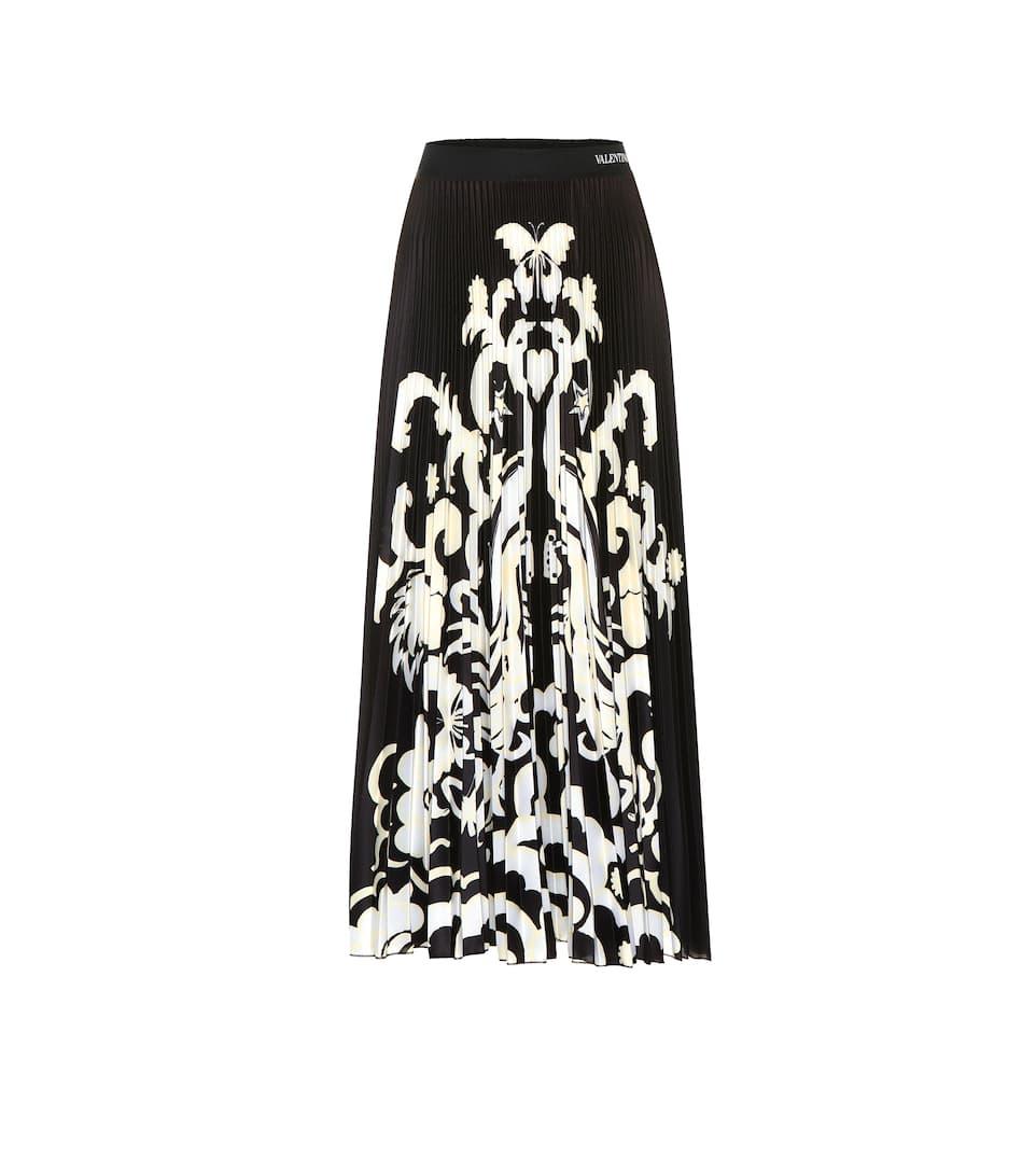 32e483aaca57 Printed Jersey Midi Skirt | Valentino - mytheresa