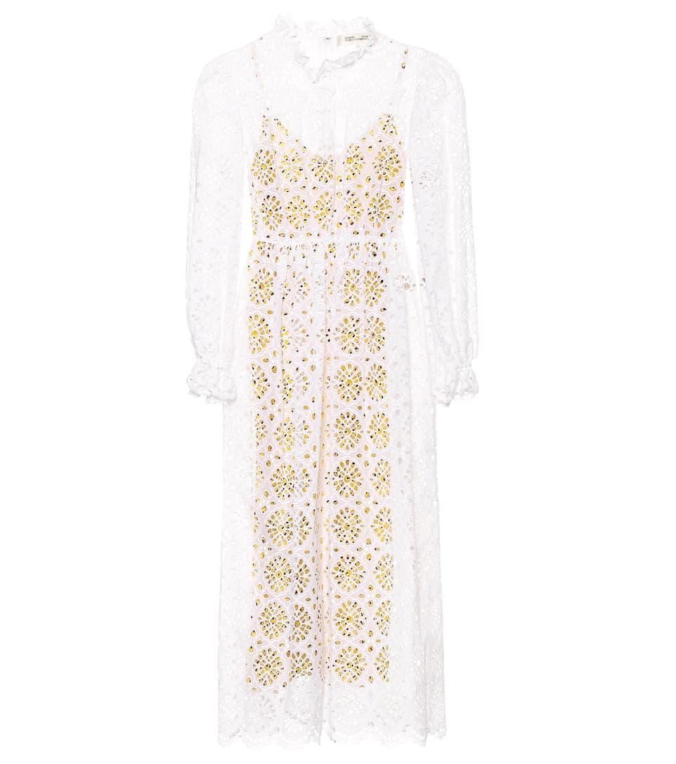 e539231dcd Leandra Eyelet Cotton Dress - Diane von Furstenberg | mytheresa