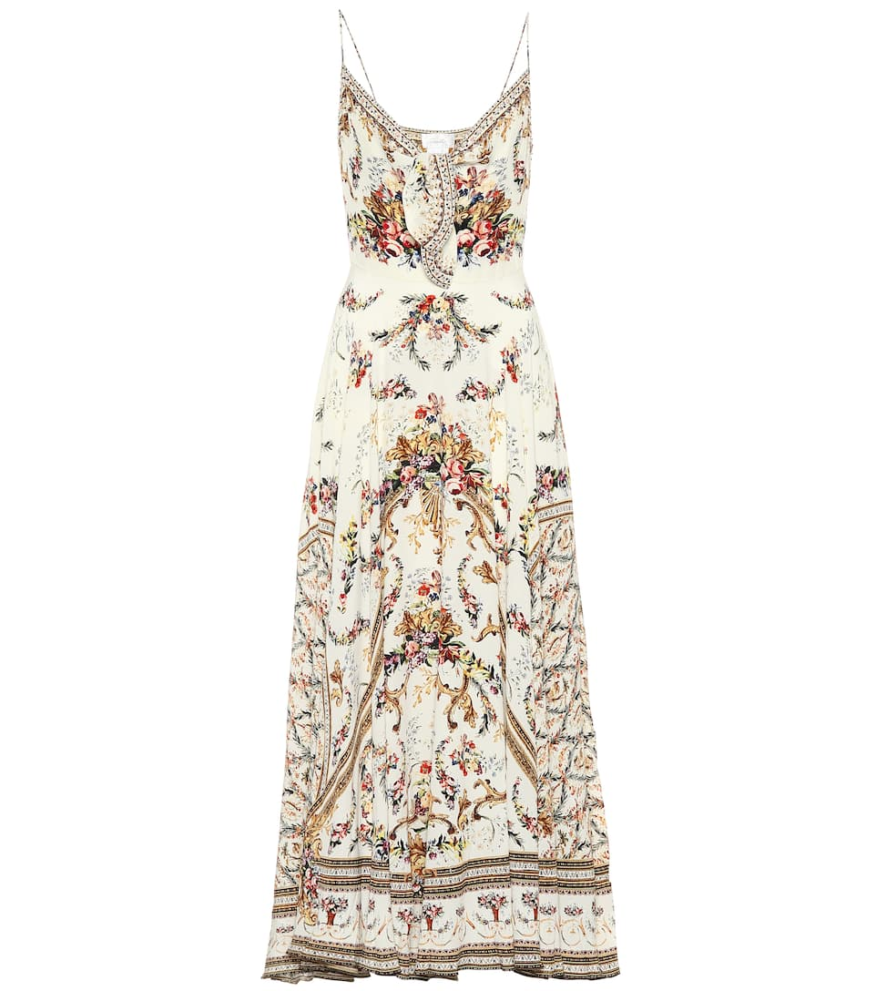 b4ff00f7823426 Embellished Printed Silk Dress - Camilla | mytheresa