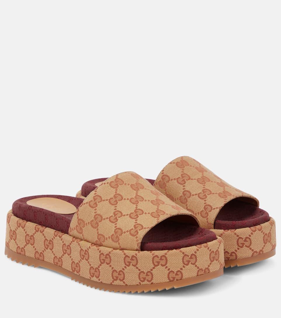 5406e3572 Gucci - Original GG platform sandals | Mytheresa
