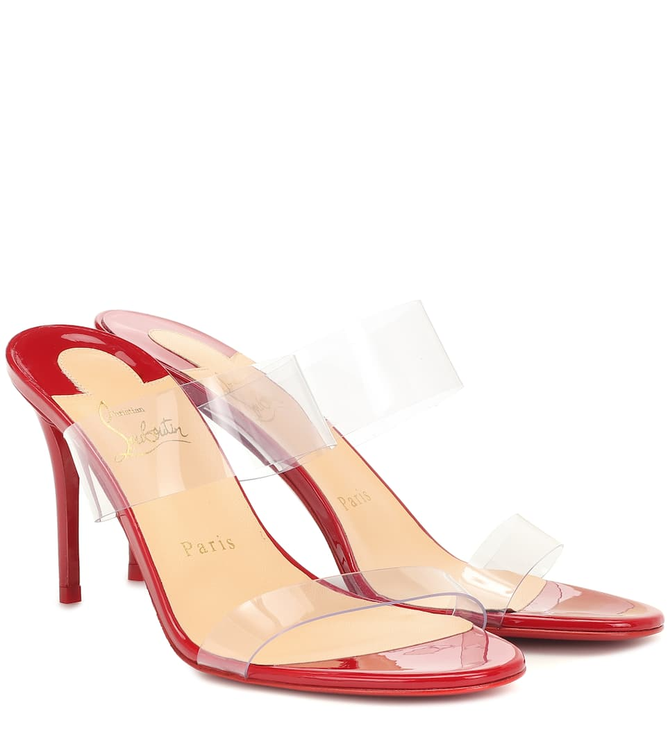 ca60d3ce2755f Christian Louboutin - Just Nothing 85 PVC sandals | Mytheresa