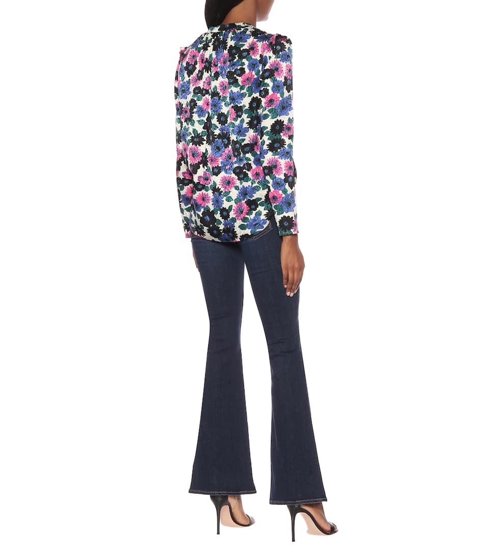 Veronica Beard - Floral stretch-silk top