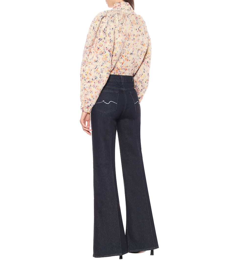 7 For All Mankind - Minimal high-rise flared jeans