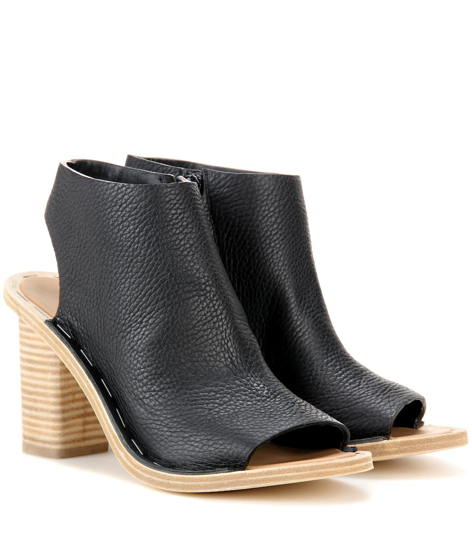 Balenciaga Leather cut-out ankle boots