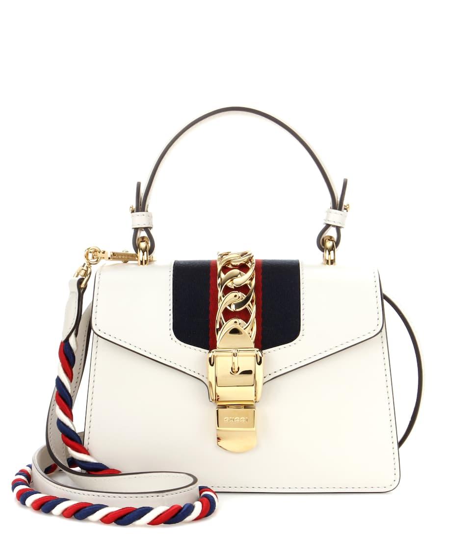 gucci sylvie mini leather crossbody bag. Black Bedroom Furniture Sets. Home Design Ideas