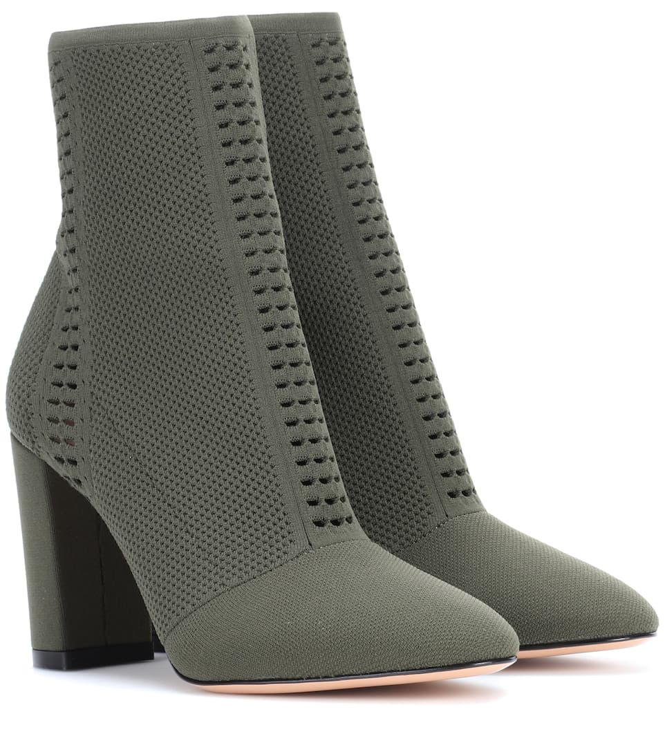 Gianvito Rossi Exclusivité mytheresa.com - Bottines en maille stretch Thurlow